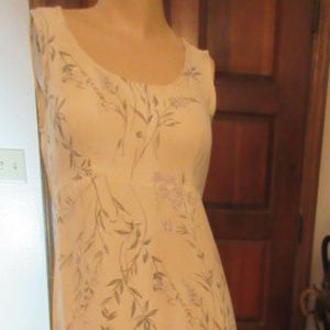 SOFT CREAM Sleeveless FLORAL MAXI DRESS Size 5/6